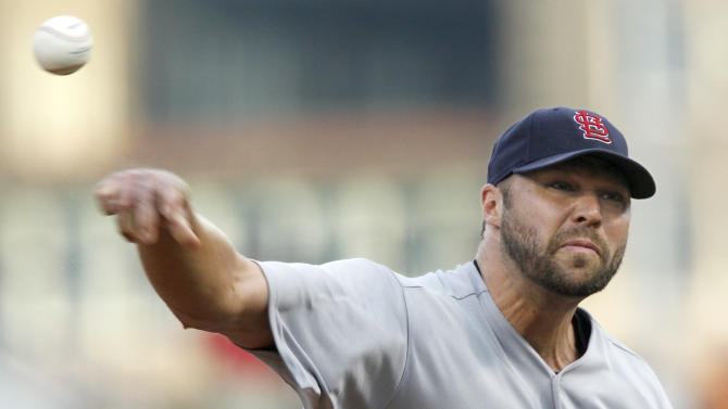 St. Louis cardinals starting pitcher Jake Westbrook throws against the Pittsburgh Pirates in the first inning of the baseball game on Monday, Aug. 15, 2011, in Pittsburgh. (AP Photo/Keith Srakocic)
