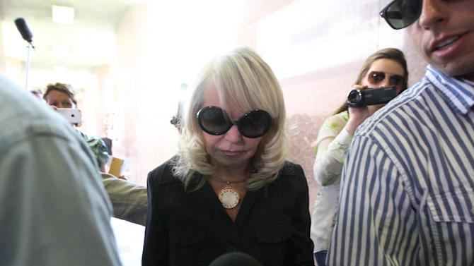 Shelly Sterling arrives at the Los Angeles Superior Court on July 8, 2014 in Los Angeles, California