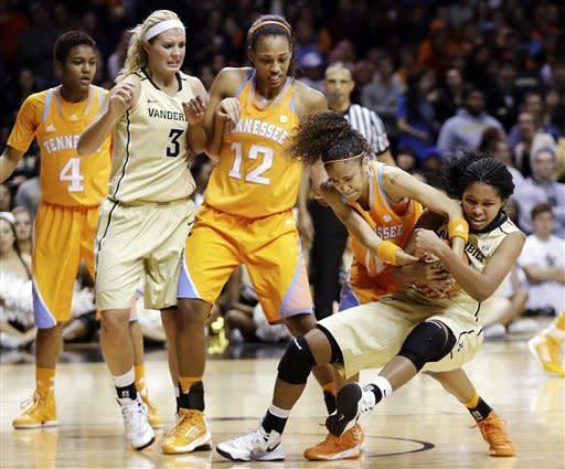 No. 9 Tennessee women beat Vanderbilt 83-75