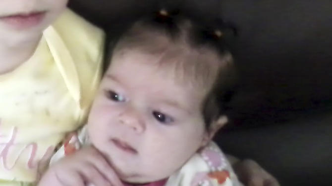 CORRECTS TO UNDATED PHOTO, NOT MAY 2012  PHOTO - This undated provided by Nicole Greenaway  shows her 3-month-old daughter, Brooklyn Foss-Greenaway, of Clinton, Maine, who died while in a babysitter's care on July 8, 2012. A 10-year-old daughter of the caregiver was charged Thursday, Aug. 30, 2012, with manslaughter in the infant's death.  (AP Photo/Nicole Greenaway)