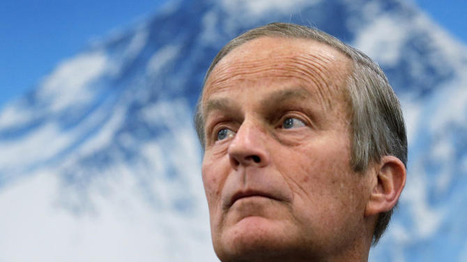 In this Oct. 30, 2012 photo, Republican U.S Senate candidate Todd Akin appears at a campaign event in Lee's Summit, Mo. Akin is running against Democrat Claire McCaskill for Missouri's Senate seat. (AP Photo/Charlie Riedel)