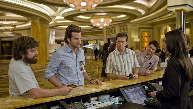 The Hangover Warner Brothers Production Photos 2009 Zach Giligianakis Bradley Cooper Ed Helms