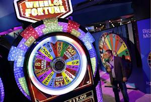 A Wheel of Fortune slot machine is seen at the IGT…