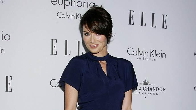Lena Headey arrives at ELLE Magazine's 15th Annual Women in Hollywood Event at The Four Seasons Hotel on October 6, 2008 in Beverly Hills, California.