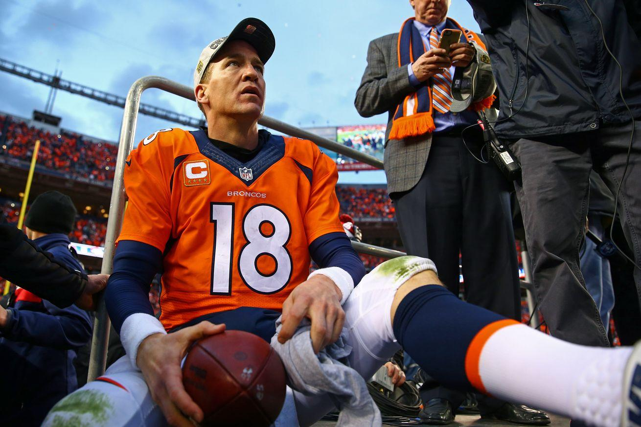Is Peyton Manning's 2015 season the worst ever for a QB starting in the Super Bowl?