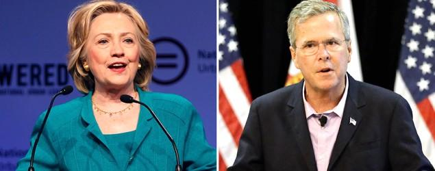 Clinton's supporters raise $15M, Bush's $103M