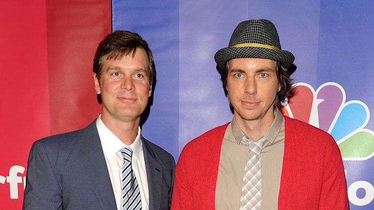 Peter Krause and Dax Shepard attend the 2010 NBC Upfront presentation at The Hilton Hotel on May 17, 2010 in New York City.