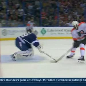 Penalty Shot: Simmonds vs Lindback