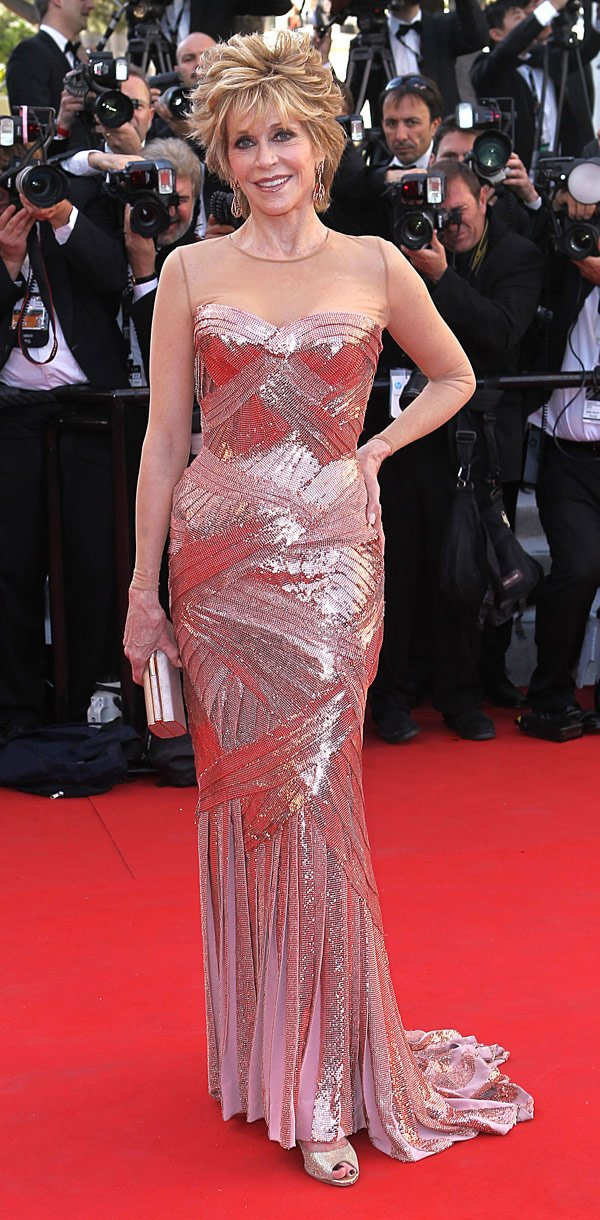Jane Fonda, 72, Shows Off Age-Defying Bod In A Sexy Gown At Cannes
