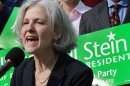 FILE - In this Oct. 24, 2011 file photo, Jill Stein of Lexington, Mass. speaks during a news conference outside the Statehouse in Boston. Stein, a Massachusetts doctor who ran against Mitt Romney for governor a decade ago is poised to challenge him again _ this time for president as the Green Party's candidate. (AP Photo/Elise Amendola)