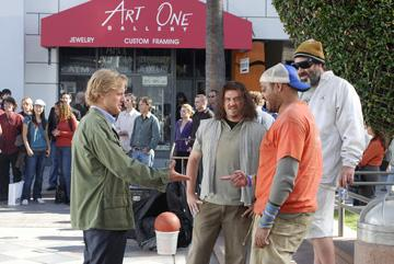 Owen Wilson , Danny R. McBride , Cedric Yarbrough and Robert Musgrave in Paramount Pictures' Drillbit Taylor