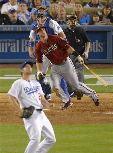 D-backs beat Dodgers 3-2 on homers by Goldschmidt