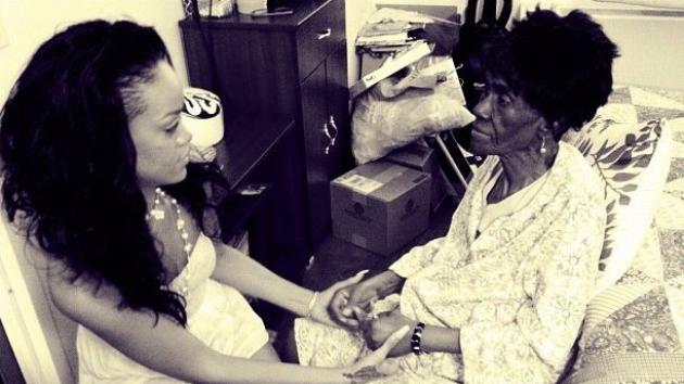 Rihanna and her grandmother, Clara Brathwaite -- Rihanna / Twitpic