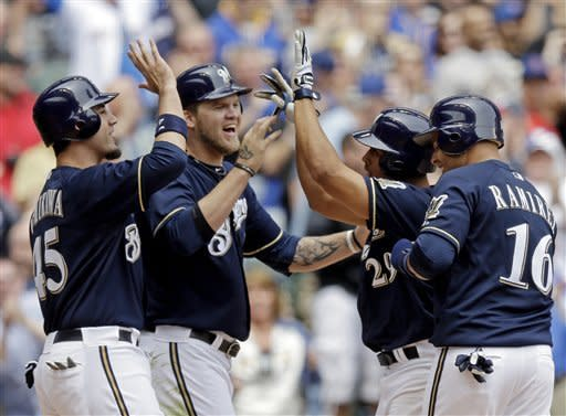 Maysonet hits grand slam as Brewers beat Cubs 8-2