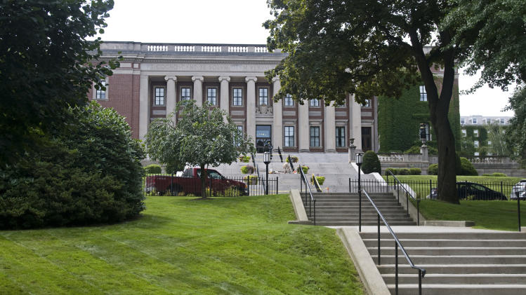 This Aug. 6, 2009 photo shows the Dinand Library on the campus of Holy Cross College in Worcester, Mass. Edwin Bleiler, who was expelled from Holy Cross in Massachusetts on the day he was supposed to graduate in spring 2011, for allegedly sexually assaulting another student. The accuser maintained she'd been intoxicated and unable to give consent to a sexual encounter. Bleiler contends she wasn't incapacitated and acted willingly. Now, Bleiler is suing Holy Cross, arguing the college's policies on consent and sexual misconduct discriminate against male students - violating his Title IX rights. (AP Photo/Worcester Telegram & Gazette, Dan Gould)
