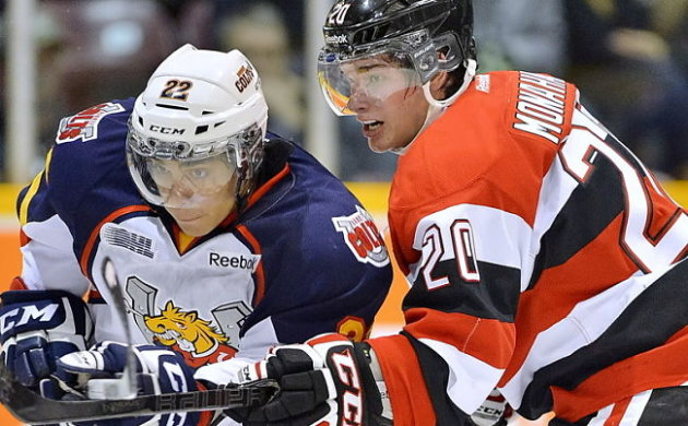 OHL: Ottawa 67's Sean Monahan Shows He Is A NHLer Already, Playing Hurt For A Mathematically Eliminated Team