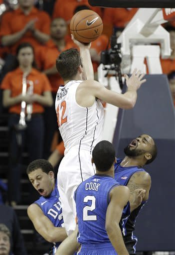 Harris' 36 lead Virginia past No. 3 Duke, 73-68
