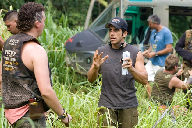 Danny R. McBride Ben Stiller Director Tropic Thunder Production Stills DreamWorks 2008
