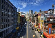 New York City's Chinatown neighborhood.
