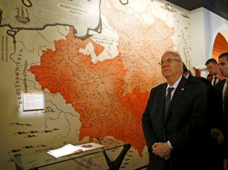 Israel's President Rivlin visits newly built Museum of the History of Polish Jews in Warsaw