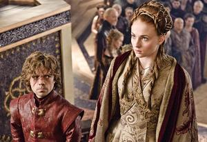 Peter Dinklage, Sophie Turner | Photo Credits: Helen Sloan/HBO