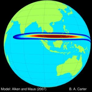 Jet of Electric Current Boosts Space Weather at Equator
