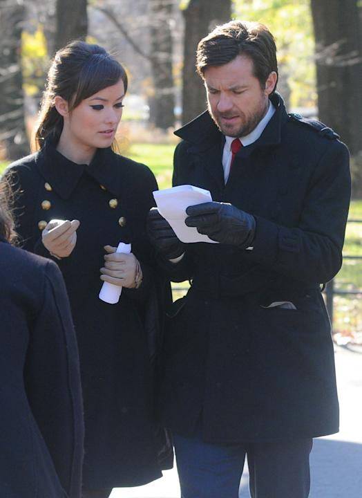 Spotted on set, Olivia Wilde Jason Bateman