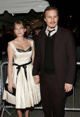 Michelle Williams and Heath Ledger at the NY premiere of Focus Features' Brokeback Mountain