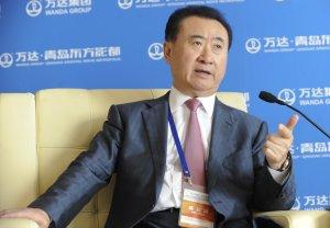 Wanda Chairman Wang Jianlin speaks during a press conference…