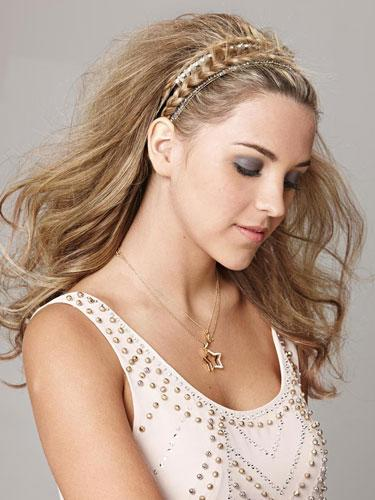 Sparkly Braided Headband