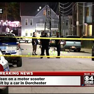 Teen Struck By Car While Riding Scooter In Dorchester
