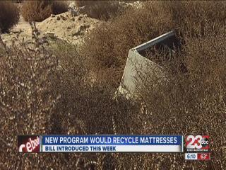 SB 245 would make mattress recycling program