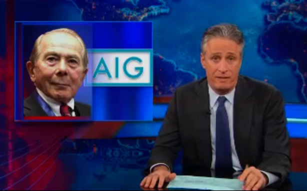 Jon Stewart Writes the Book on AIG