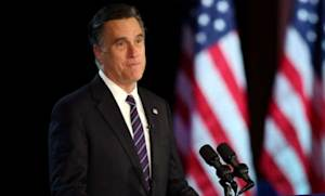 Mitt Romney delivers his concession speech in the early morning hours of Nov. 7: In the minds of many Republicans, Romney can't step off the national stage soon enough.