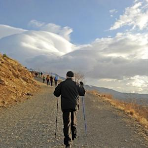 FILE - This Dec. 6, 2013 file image posted on his official Instagram account shows Iranian President Hassan Rouhani hiking in the Tochal mountain area north of Tehran, Iran. A court in Iran has ordered that the photo-sharing app Instagram be blocked in the Islamic Republic over privacy concerns, the semiofficial Mehr news agency reported Friday, May 22, 2014. (AP Photo/Office of Hassan Rouhani via Instagram, File)