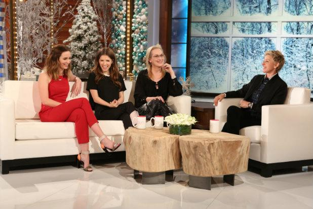 Ellen Gets Vocal Training From 'Into the Woods' Cast Meryl Streep, Anna Kendrick, Emily Blunt