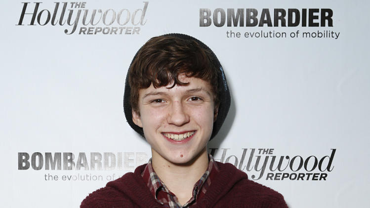 Tom Holland is seen at The Hollywood Reporter's Palm Springs Shuttle presented by Bombardier Business Aircraft - Day 2, on Saturday, January 5, 2013 in Palm Springs, California. (Photo by Todd Williamson/Invision for Bombardier/AP Images)