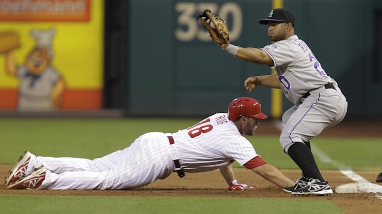 Young's single in 9th lifts Phils past Rockies 4-3