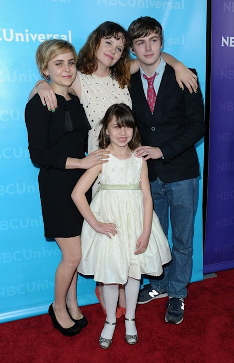 Mae Whitman, Sarah Ramos, Miles Heizer, and Savannah Paige Rae (&quot;Parenthood&quot;) attend the 2012 NBC Universal Winter TCA All-Star Party at The Athenaeum on January 6, 2012 in Pasadena, California. 