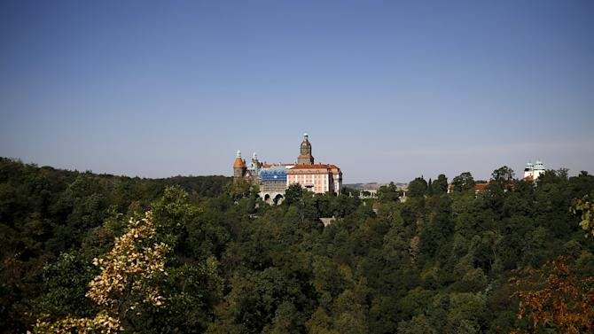 Ksiaz Castle is pictured in an area where a Nazi train is believed to be at, in Walbrzych