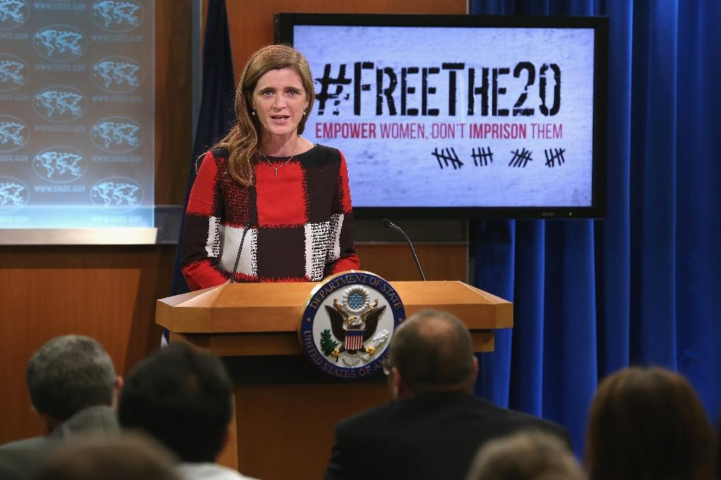 US calls for freedom for 20 women political prisoners