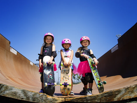 Relz, Sierra and Bella make up the Pink Helmet Posse.