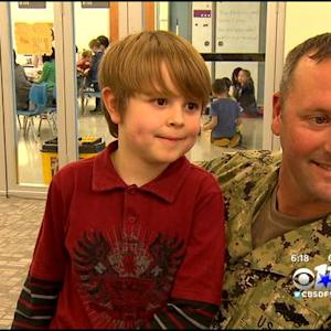 North Texas Serviceman Surprises Son At School