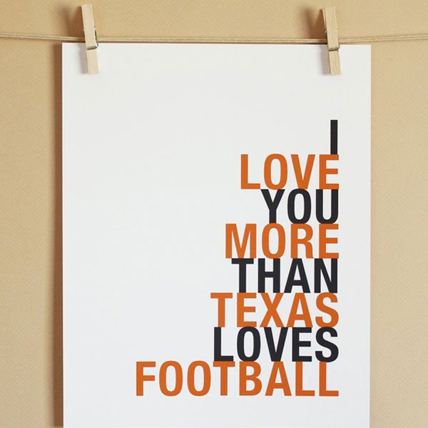 Football-Inspired Sign