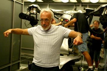 Special effects supervisor Stan Winston on the set of Warner Brothers' Terminator 3: Rise of the Machines