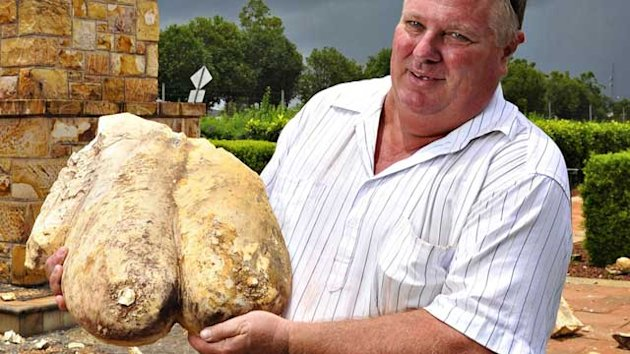 Stone Breasts Survive Lightning Strike (ABC News)