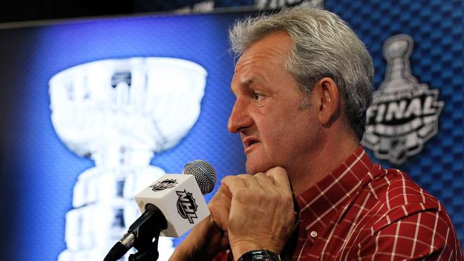 Darryl Sutter Of The Los Angeles Kings Answers Getty Images