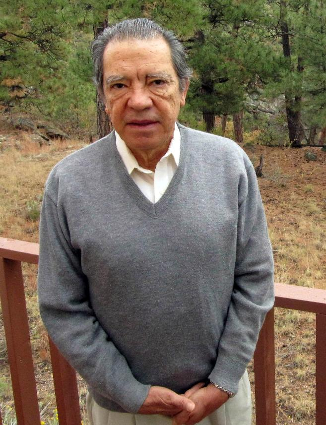 FILE - This Oct. 22, 2009, file photo shows former Los Alamos National Laboratory nuclear physicist Pedro Leonardo Mascheroni on his back deck in Los ...