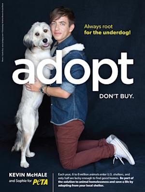 Kevin McHale and Sophie for PETA -- PETA