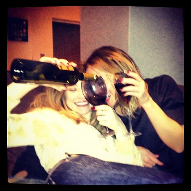 Celebrity Twitpics: Girls Aloud stars Kimberley Walsh and Nicola Roberts tweeted this cute photo of themselves on New Years Eve. Copyright [Nicola Roberts]